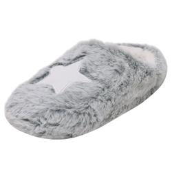 Zapato Hausschuh Kuschelige Damen Slipper Pantoffel Clog Schuhe Puschen Grau Stern 41