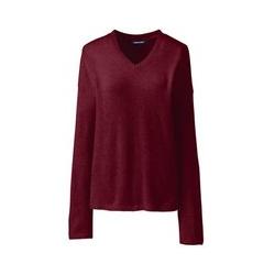 Bouclé-Pullover mit V-Ausschnitt - XS - Rot