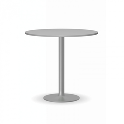 Konferenztisch filip ii, dm. 800 mm, graue fußgestell, platte graue
