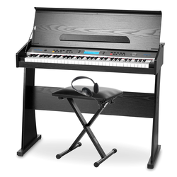FunKey DP-61 II Keyboard mit 61 Tasten im Digitalpiano-Design SET inkl. Bank + Kopfhörer