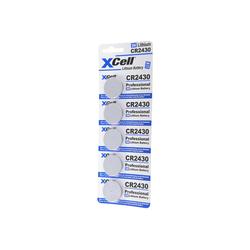 XCell 5er-Sparset CR2430 Lithium Batterie 3V, CR2430 Bat Batterie