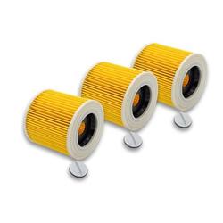 vhbw® 3x Set Patronenfilter Ersatz Filter Patrone wie Kärcher 6.414-552.0 für Kärcher Nasssauger-Trockensauger, Waschsauger, Mehrzwecksauger