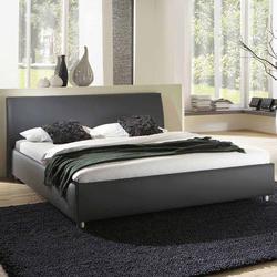 Stoffbett in Grau in Überlänge
