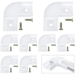 Chesbung 90 Grad Eckverbinder, NUR für Chesbung U-förmigen LED-Aluminium-LED-Kanal (ASIN : B07PSNJMPN, B07PTQ6FTZ, B07KR7H4B6, B07Q1B91MT), inklusive Schrauben