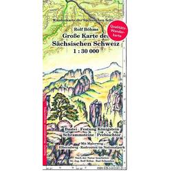 Große Karte der Sächsischen Schweiz 1 : 30 000. Regenfest