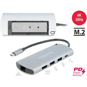 DELOCK 87767 - Dockingstation/Port Replicator, USB Type-C, Laptop