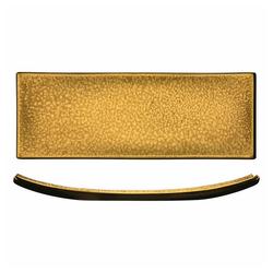 Eisch Servierplatte Gold Rush 29.5 x 9.5 cm, Kristallglas goldfarben