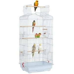 Vogelkäfig Vogelbauer Wellensittich Vogelvoliere Vogelhaus Tierkäfig weiß