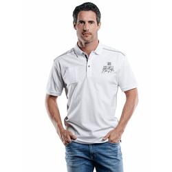 Stylisches Poloshirt mit Applikation Engbers Reinweiss