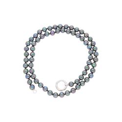 JuwelmaLux Perlenkette Perlenkette Silber (1-tlg), Damen Perlenkette Silber 925/000, inkl. Schmuckschachtel