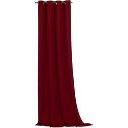 Vorhang Ronja, Weckbrodt, Ösen (1 Stück), abdunkelnd rot 135 cm x 245 cm