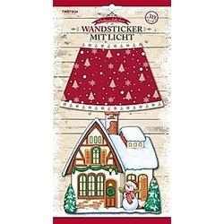 Weihnachtlicher Wandsticker mit Licht