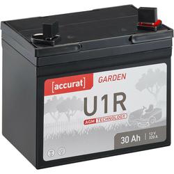 Accurat Garden U1R AGM 12V Rasentraktor-Batterie 30Ah