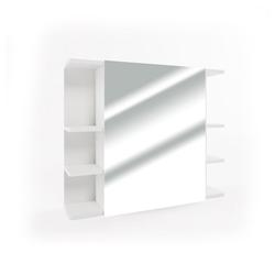 Vicco Badezimmerspiegelschrank Spiegelschrank FYNN 80 x 64 cm Weiß - Spiegel Badspiegel Bad Wandspiegel