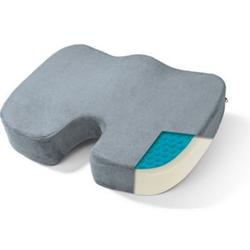 VITALmaxx Gel-Sitzkissen ergonomisch grau inkl. Fleecebezug