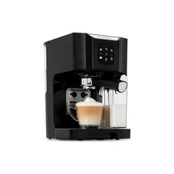 Klarstein Filterkaffeemaschine BellaVita Kaffeemaschine, 1450 W, 20 Bar, Milchschäumer, 3in1, schwarz, 0l Kaffeekanne schwarz