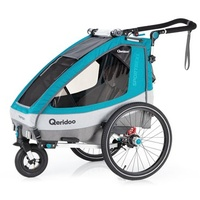 Qeridoo Sportrex1 Kinderanhänger petrol