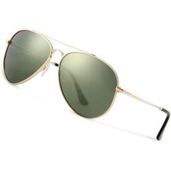 Luxear Sonnenbrille Luxear Sonnenbrille Herren Polarisiert Pilotenbrille, 2021 Trend Polarisierte Sonnenbrille Herren grün Fliegerbrille Männer 100% 400 UV Schutz