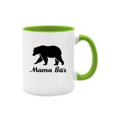Shirtracer Tasse Mama Bär - Muttertagsgeschenk Tasse - Tasse zweifarbig - Tassen, geschenk mama