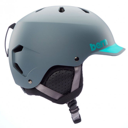 BERN WATTS EPS BOA Helm 2021 matte grey/aqua - L