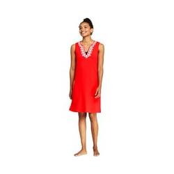 Strandkleid mit Borte - XS - Rot