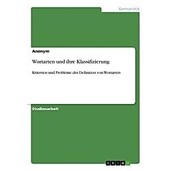 Wortarten und ihre Klassifizierung. Anonym  - Buch