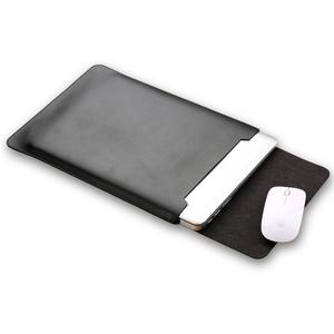"Mikrofaser Leder Laptop Sleeve Slim Case Cover Luxus PU Ledertasche Elagant Schutzhülle integriert Mousepad kompatibel mit MacBook Air 11,6"""