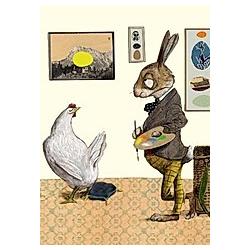 Osterhase, Postkarten