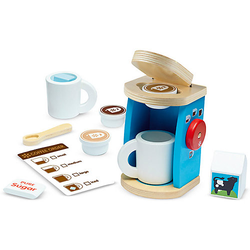 Kaffeeservice aus Holz bunt