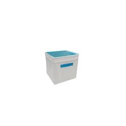 HTI-Line Aufbewahrungsbox Aufbewahrungsbox mit Deckel Paloma (1 Stück), Stoffbox blau