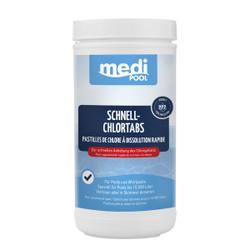 mediPOOL Schnell-Chlor Tabs 20 g, Granulat zur sofortigen Anhebung des Chlorgehalts, 1 kg - Dose
