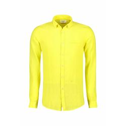 NEW IN TOWN Herren Leinenhemd gelb / zitrone / zitronengelb / hellgelb, Größe 45-46, 4884738