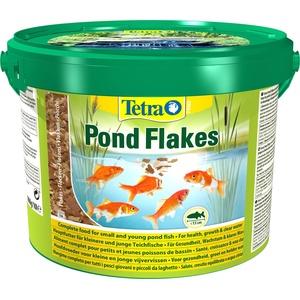 Tetra Pond Flakes – Fischfutter für kleinere und junge Teichfische in Flockenform, für eine abwechslungsreiche und ausgewogene Ernährung, 10 L Eimer