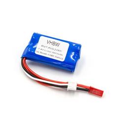 vhbw Li-Ion Akku 650mAh (7.4V) für Modellbau, Drohne Jamara Flyscout wie Revell 43965.