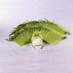 10 x Organzasäckchen Organzabeutel Schmuckbeutel Säckchen Organza grün