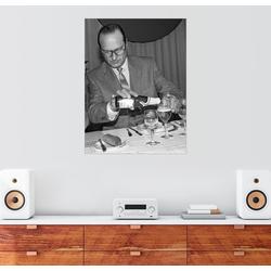Posterlounge Wandbild, Jacques Chirac bei einem Mittagessen 60 cm x 80 cm