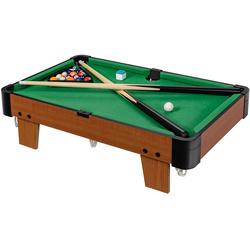 COSTWAY Billardtisch Billardtisch, 61cm Mini Billardtisch mit 2 Queues und 16 Kugeln, Tischbillard Spiel inkl. Kreide und Dreieck, Spieltisch fürFamilienspiele, Camping, Partys