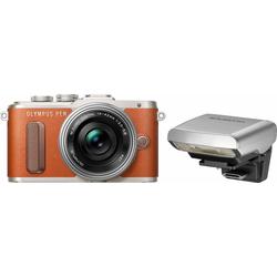 Olympus E-PL8 Systemkamera (14-42mm EZ Pancake, 16,1 MP, WLAN (Wi-Fi), Makroaufnahme, HDR-Aufnahme, 3D, Gesichtserkennung) braun