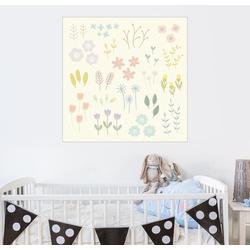 Posterlounge Wandbild, Gartenblumen 50 cm x 50 cm