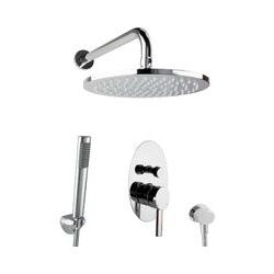 Dusch Komplett Set Unterputz Regendusche oval Luxus Brauseset