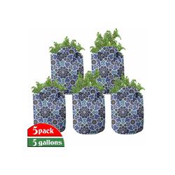 Abakuhaus Pflanzkübel hochleistungsfähig Stofftöpfe mit Griffen für Pflanzen, Arabisch Persian Gypsy Entwurf 28 cm x 28 cm