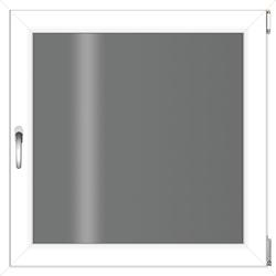 RORO Türen & Fenster Kunststofffenster, BxH: 60x60 cm, ohne Griff