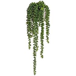 Kunstranke Sedumhänger, Creativ green, Höhe 55 cm, im Zementtopf