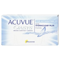 Acuvue Oasys for Astigmatism 6 St. / 8.60 BC / 14.50 DIA / +5.75 DPT / -0.75 CYL / 20° AX