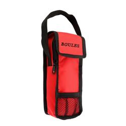 Bouletasche für 3 Boulekugeln Rot