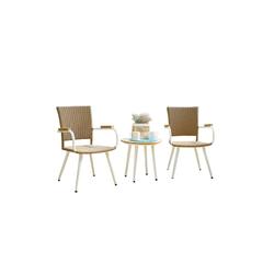 HTI-Line Sitzgruppe Terrassenmöbel Sevilla, (2x Stuhl, 1x Tisch, 3-tlg), Terrassenmöbel