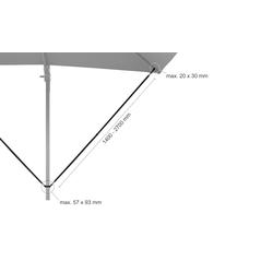 Ampelschirm-Windsicherung ¦ schwarz