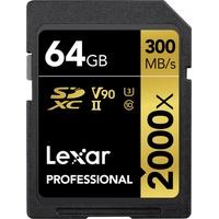 Lexar SDXC Professional 2000x 64GB