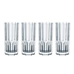 Nachtmann Longdrinkglas 4x Longdrink Gläser Aspen aus Kristallglas 0092127 − Made in Germany − 309 ml − Longdrink−Set, Kristallglas