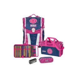 Scout Schulranzen Sunny Exklusiv Schulranzen Set 4tlg. Safety Light rosa